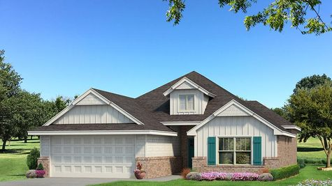 Homes by Taber A Siding Elevation - Pop of Color
