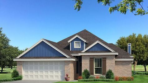 Homes by Taber A Brick Elevation - Royal Blue