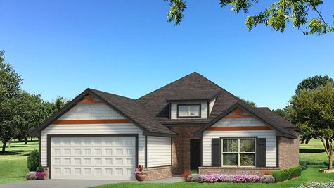 Homes by Taber Julie A Siding Elevation - Black and White