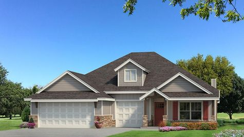 Homes by Taber Shiloh Siding Elevation - Light Grey