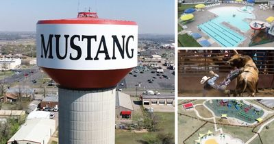 Montage of Mustang OK attractions