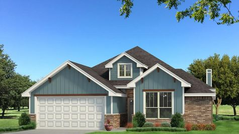 Homes by Taber Brinklee A2 Siding Elevation - Aqua