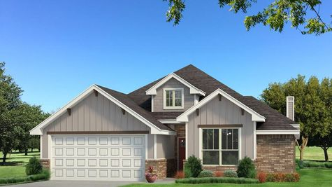 Homes by Taber Brinklee A2 Siding Elevation - Light Grey