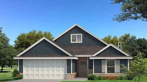 Homes by Taber Kamber A Siding Elevation - Navy Blue