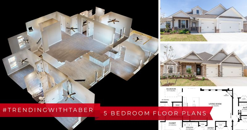 Montage of five-bedroom new homes by Taber