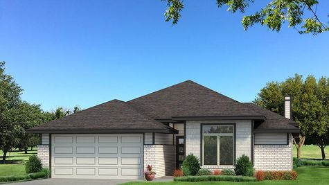 Homes by Taber B Elevation - Black and White