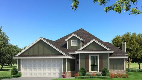 Homes by Taber A Siding Elevation - Green