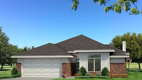 Homes by Taber B Elevation - Pop of Color