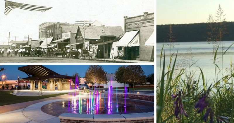 A collage of photos from Bixby Oklahoma through the years.