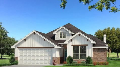 Homes by Taber Brinklee A2 Siding Elevation - Pop of Color