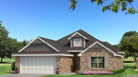 Homes by Taber Hunter Brick Elevation - Shades of Grey