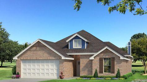 Homes by Taber Teagen Brick Elevation - Royal Blue