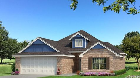 Homes by Taber Hunter Brick Elevation - Royal Blue