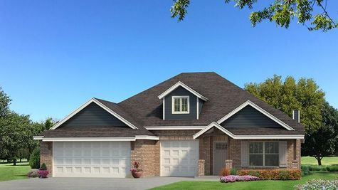 Homes by Taber Shiloh Brick Elevation - Navy Blue