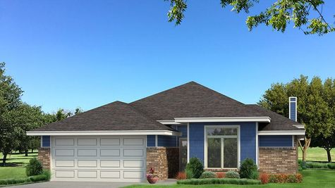 Homes by Taber B Elevation - Royal Blue