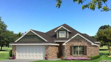 Homes by Taber Hunter Brick Elevation - Green