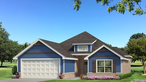 Homes by Taber Julie A Siding Elevation - Royal Blue