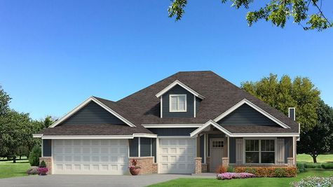Homes by Taber Shiloh Siding Elevation - Navy Blue