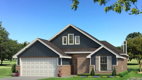 Homes by Taber Teagen A2 Elevation - Navy Blue