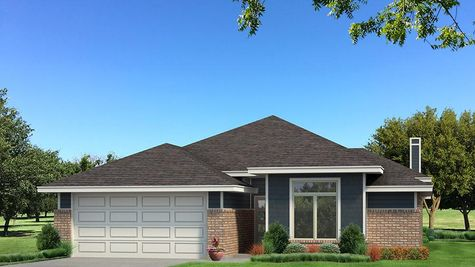 Homes by Taber B Elevation - Navy Blue