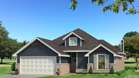 Homes by Taber Teagen Siding Elevation - Navy Blue