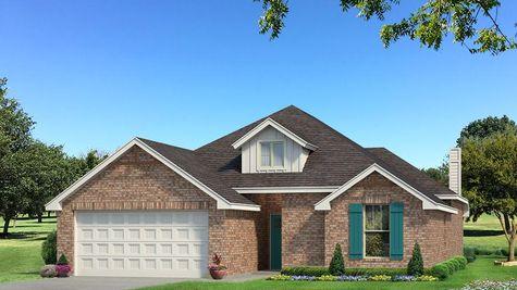 Homes by Taber Teagen Brick Elevation - Pop of Color