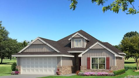 Homes by Taber A Siding Elevation - Light Grey