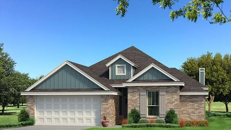 Homes by Taber A Brick Elevation - Aqua
