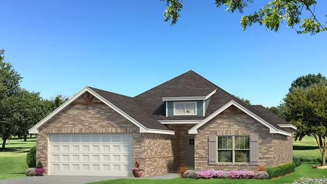 Homes by Taber Julie A Brick Elevation - Aqua