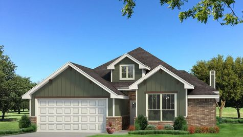 Homes by Taber Brinklee A2 Siding Elevation - Green
