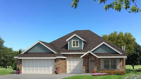 Homes by Taber Shiloh Brick Elevation - Aqua