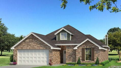 Homes by Taber Teagen Brick Elevation - Green