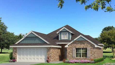 Homes by Taber Hunter Brick Elevation - Aqua