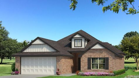 Homes by Taber Hunter Brick Elevation - Black and White
