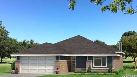 Homes by Taber Teagen B Elevation - Navy Blue