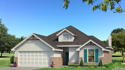 Homes by Taber Teagen Siding Elevation - Pop of Color
