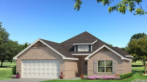 Homes by Taber Julie A Brick Elevation - Navy Blue