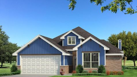 Homes by Taber Brinklee A2 Siding Elevation - Royal Blue