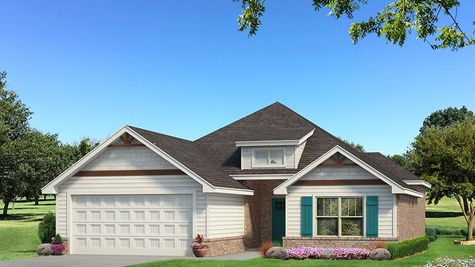 Homes by Taber Julie A Siding Elevation - Pop of Color