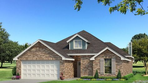 Homes by Taber Teagen Brick Elevation - Aqua