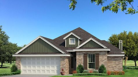 Homes by Taber A Brick Elevation - Green