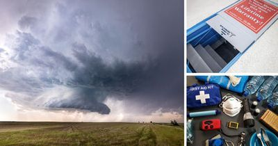 Montage of storm shelter images
