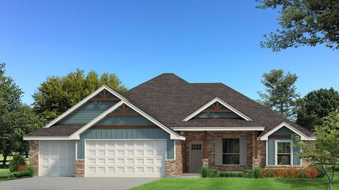 Homes by Taber Cornerstone Half Bath Brick Elevation
