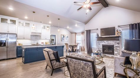 Homes by Taber Blue Spruce Floor Plan - Council Ridge Model Home