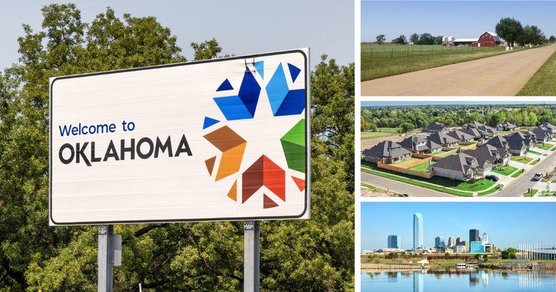 Montage of Oklahoma homes and landmarks
