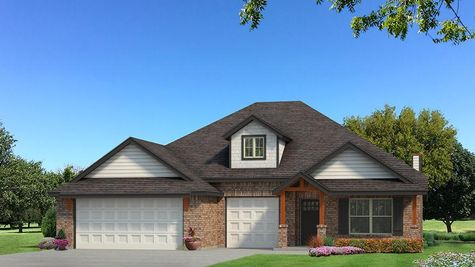 Homes by Taber Shiloh Brick Elevation - Black and White