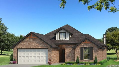 Homes by Taber Teagen Brick Elevation - Black and White