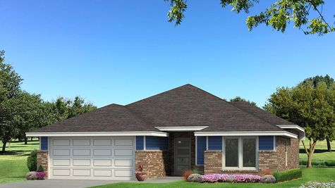 Homes by Taber Drake B Elevation - Royal Blue