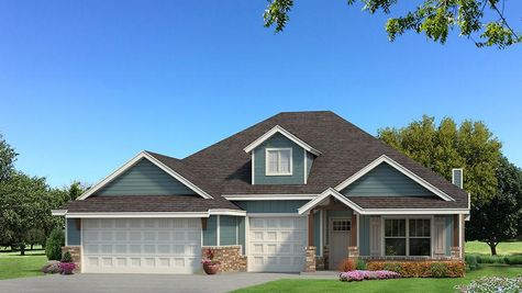 Homes by Taber Shiloh Siding Elevation - Aqua