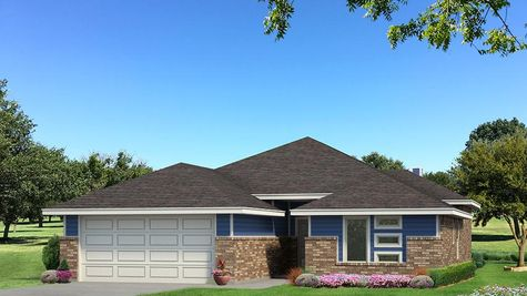 Homes by Taber Hunter B Elevation- Royal Blue